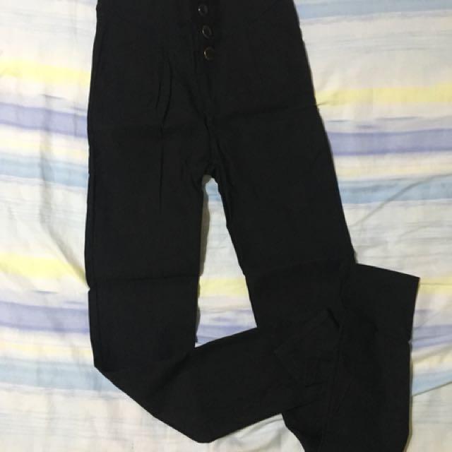 #大掃除五折  Xs號 超彈性造型貼腿褲(厚)
