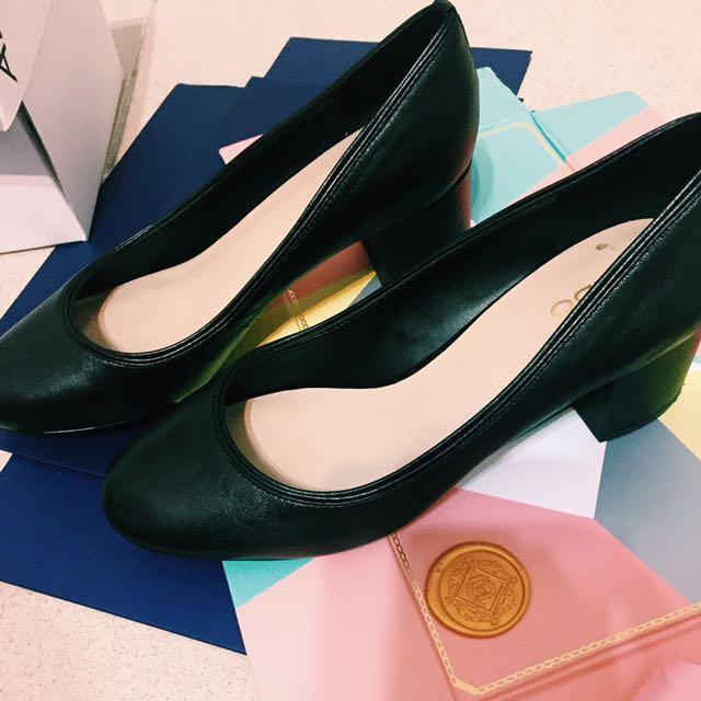 ALDO 黑色粗根鞋