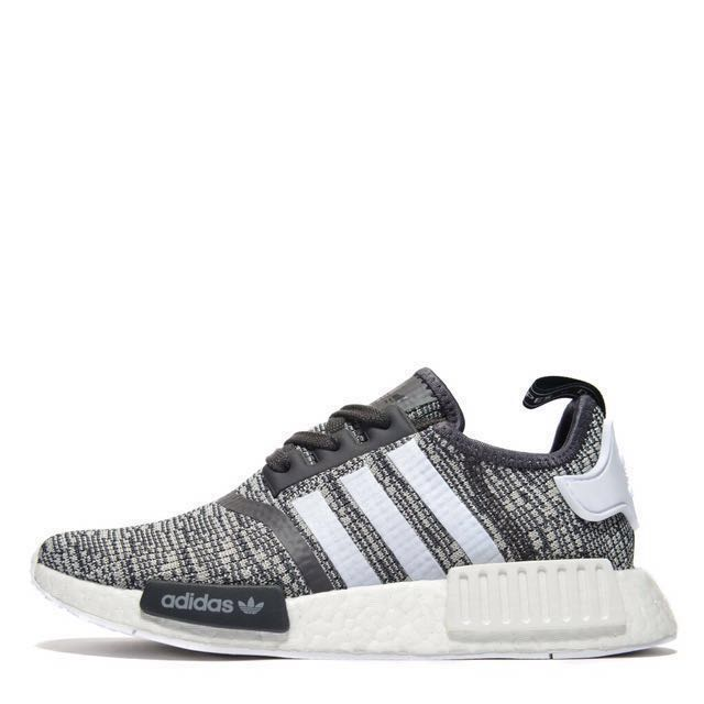 finest selection 80bcb da55e AUTHENTIC Adidas NMD R1 Women's Midnight Grey/White/Mid Grey