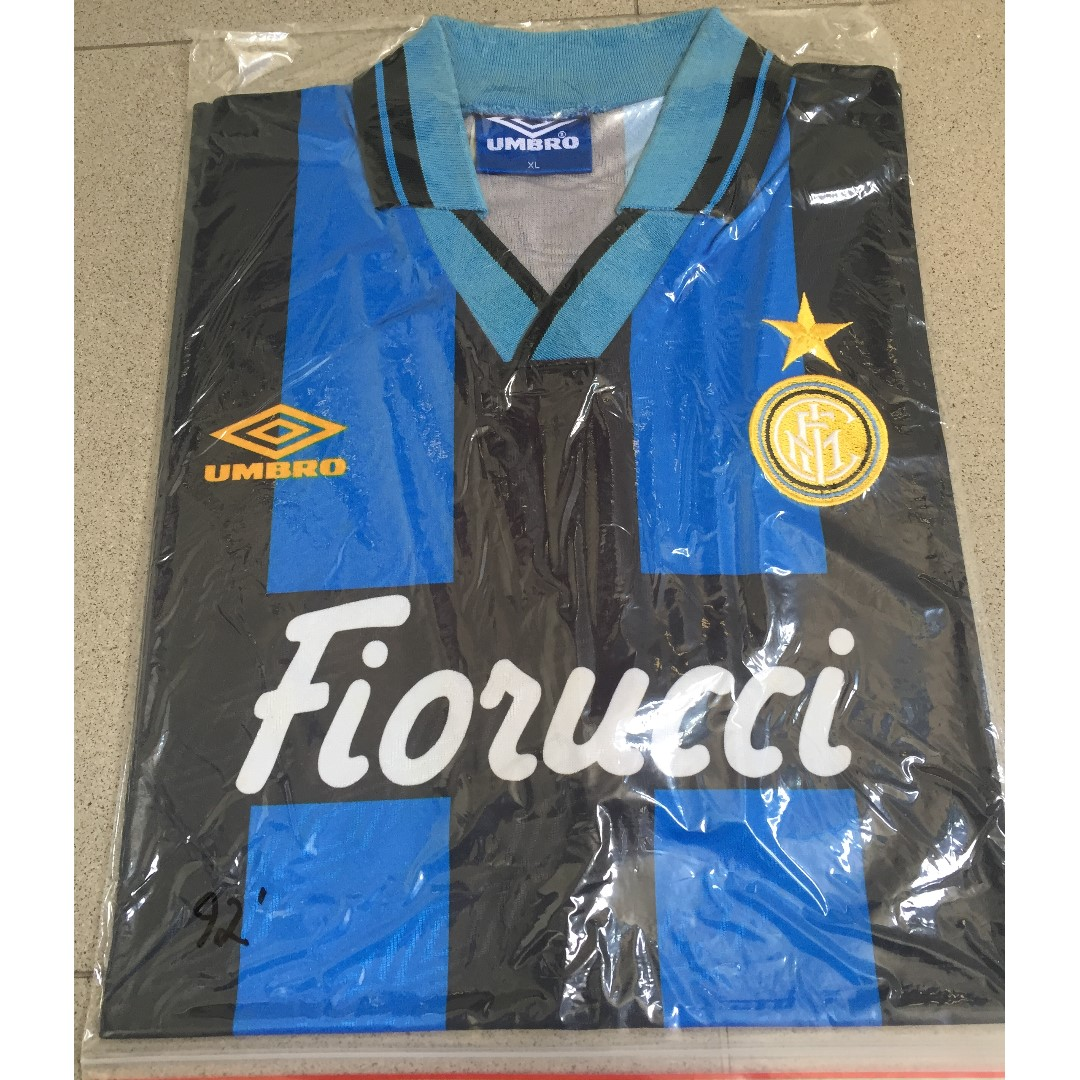 timeless design 2ea73 5251e Authentic Classic Inter Milan FC 92 Home Jersey, Sports ...