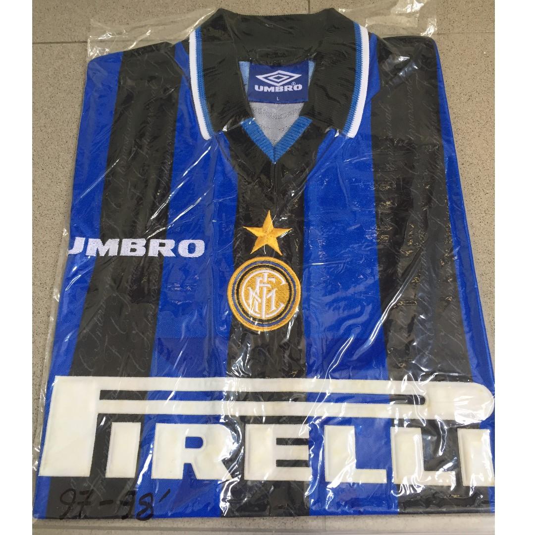 competitive price 28632 ab592 Authentic Classic Inter Milan FC 97/98 Home Jersey, Sports ...