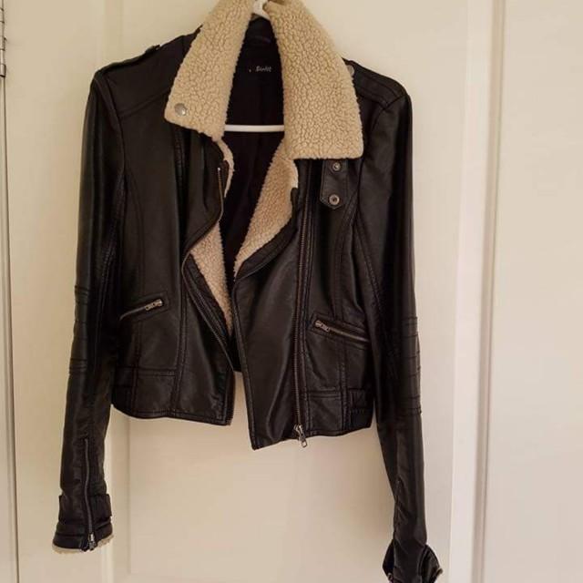 Bardot PU leather look jacket - black