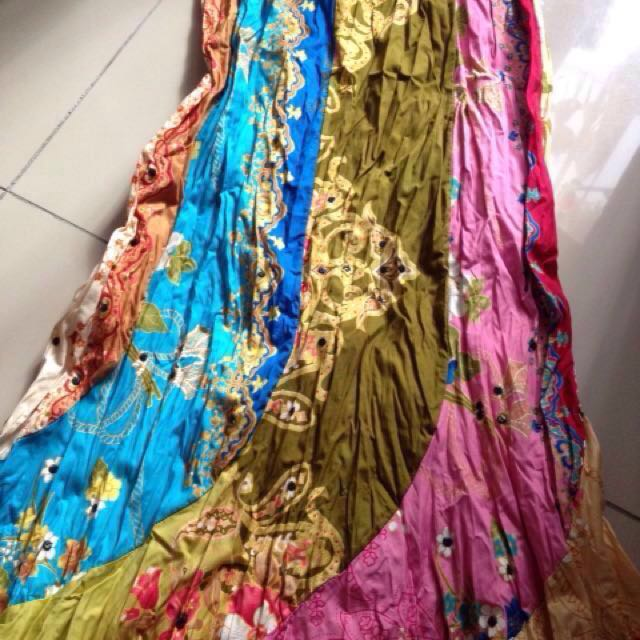 e57af589f Batik style long colourful skirt #SpringClean60, Women's Fashion, Clothes,  Bottoms on Carousell