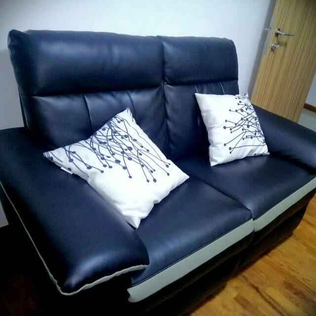 Black Leather Recliner Sofa Very Cheap Furniture Sofas On Carousell