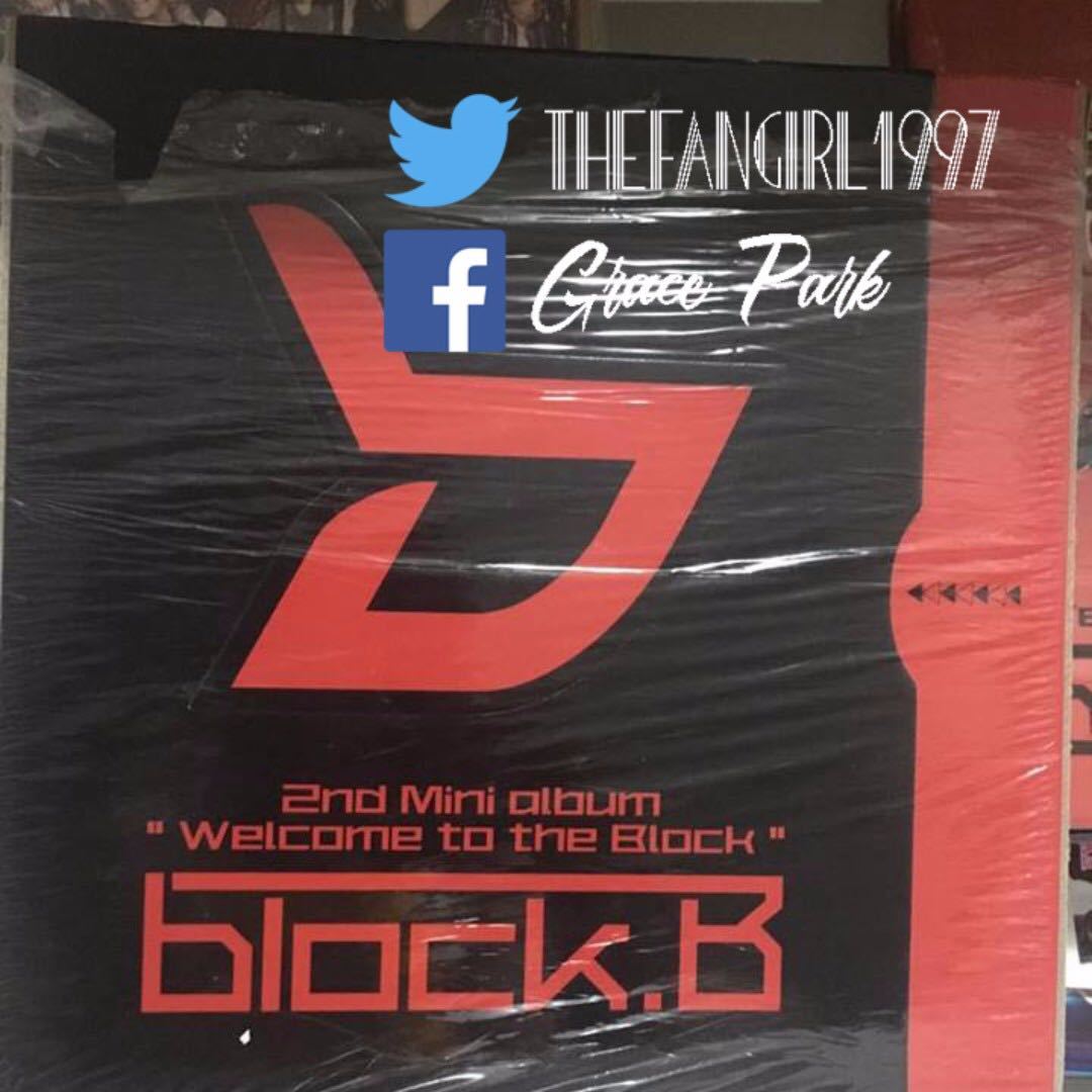 BLOCK B 2ND MINI ALBUM WELCOME TO THE BLOCK LIMITED EDITION