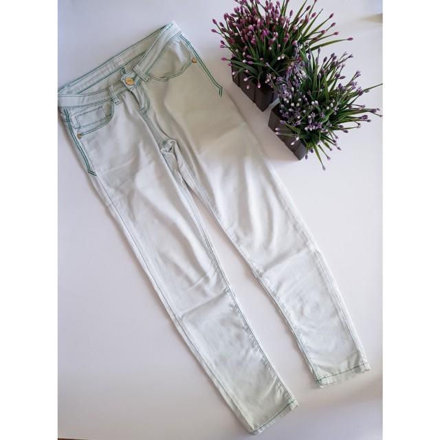 Bluish white jeans