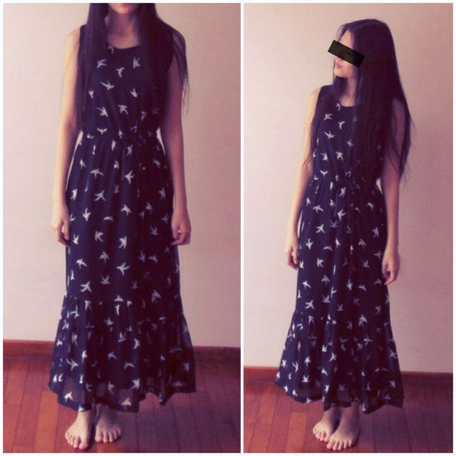BN Swallows Dreaming Maxi Dress