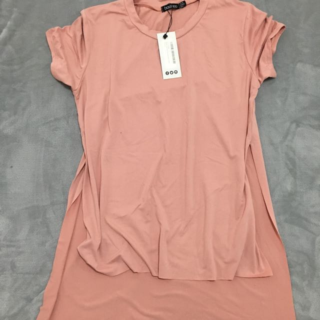 Boohoo side split tee size 10