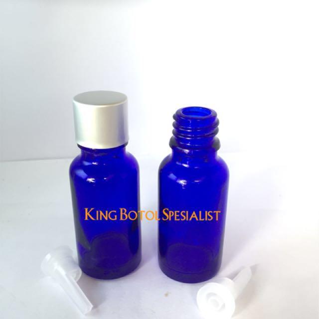 Botol Biru Kaca Aromaterapi 20ml