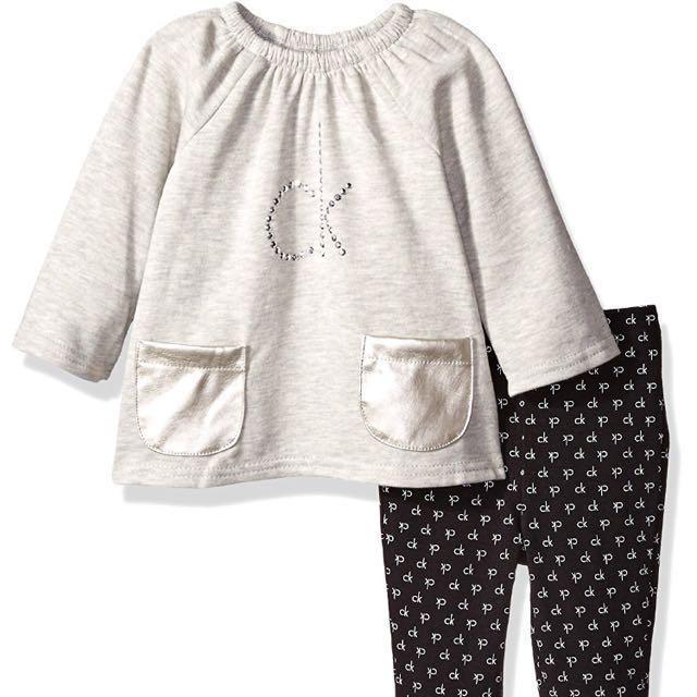 103cf3ac886 Calvin Klein Baby Fleece Tunic with Pockets and Legging Set 24m CK ...