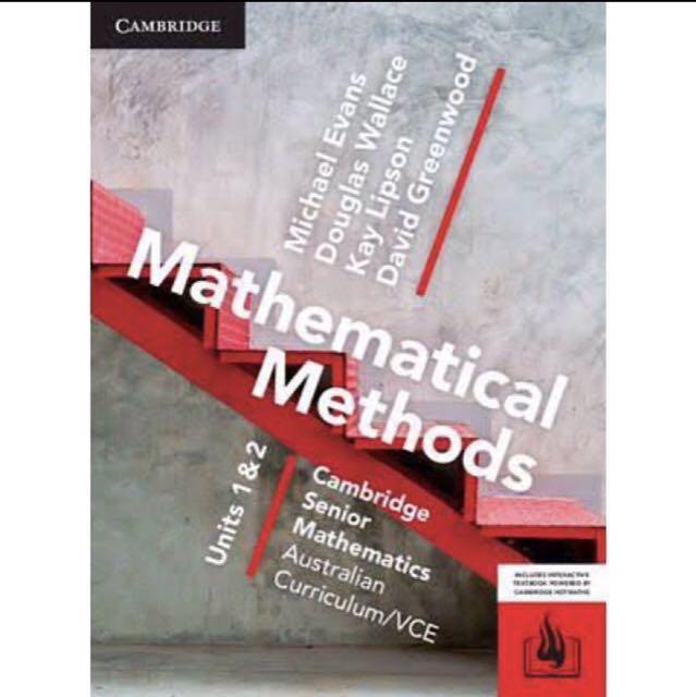 Cambridge Math Methods Unit 1 and 2