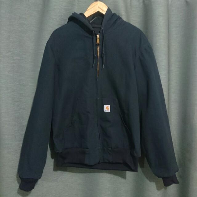 Carhartt Black Denim Hooded Jacket *Repriced*