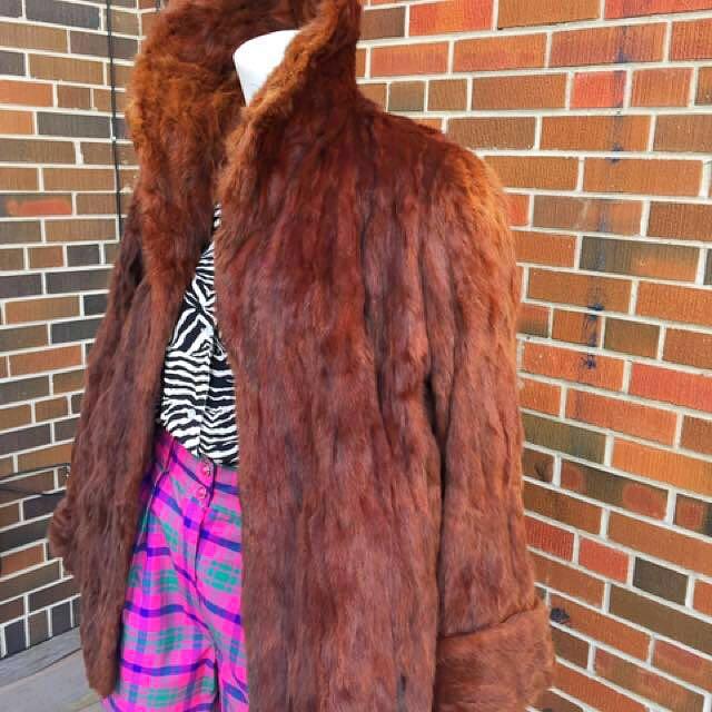 Chocolate brown fur coat