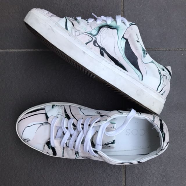 COS fine leather sneakers
