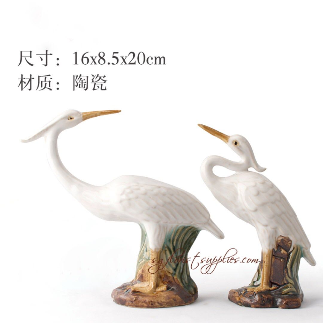 Crane Bird Figures Bonsai Accessories Home Decoration