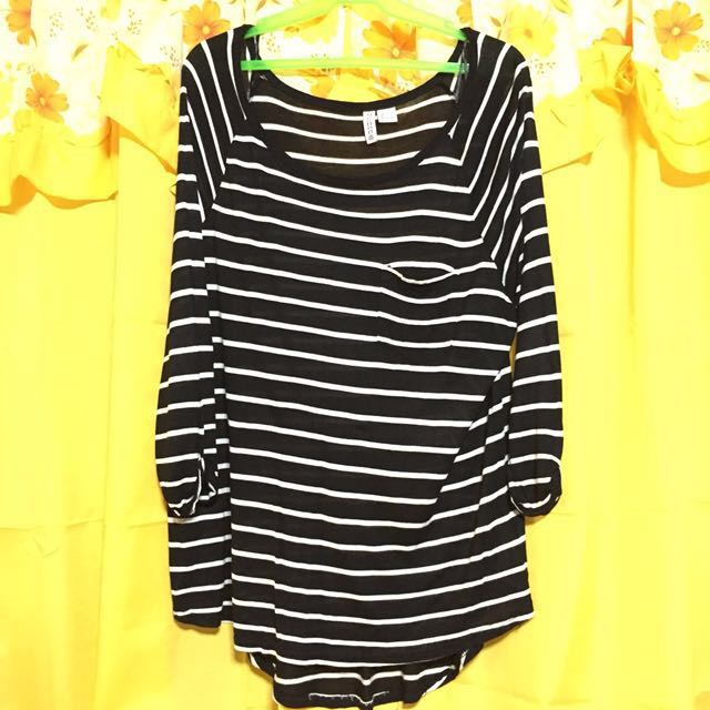 Divided stripes long sleeves L