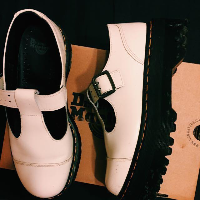 Dr.Martens 白色厚底鞋