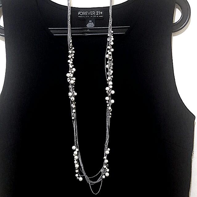 F21 Multistrand Pearl Necklace