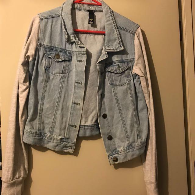 Factorie Cropped Denim Jacket