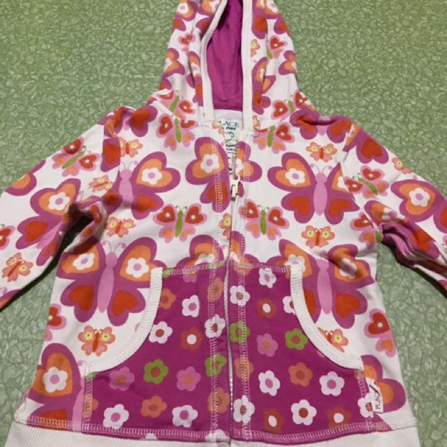 Floral jacket with hood