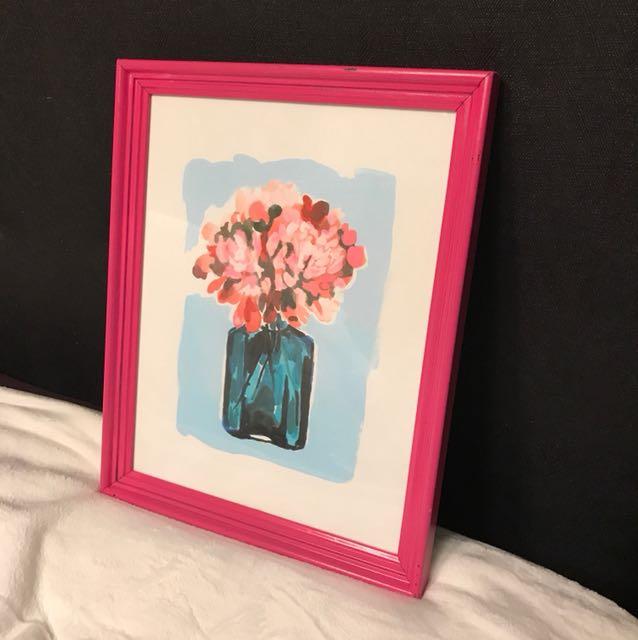 Flower Print and Frame