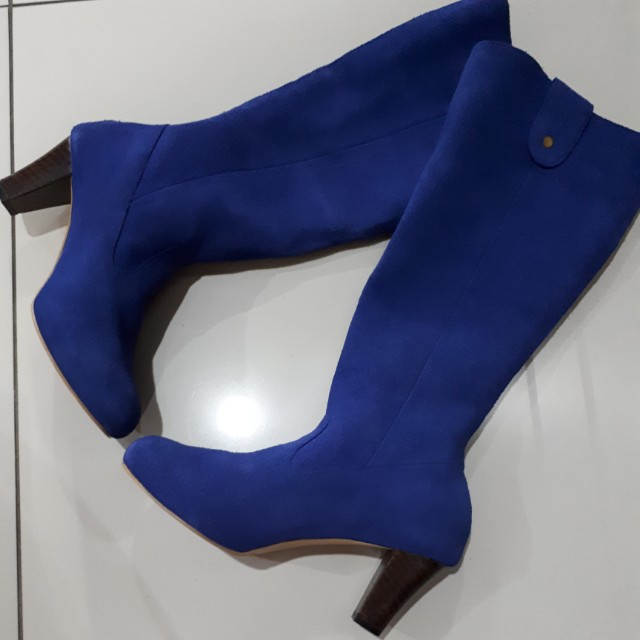 GENUINE SUEDE LEATHER LONG BOOTS