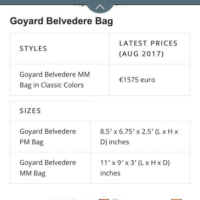 Goyard Belvedere MM Bag