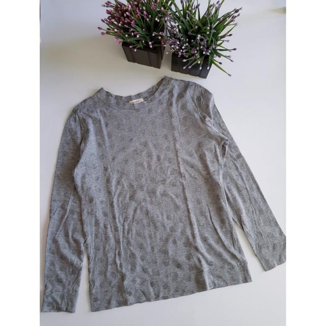 Gray polka sweater