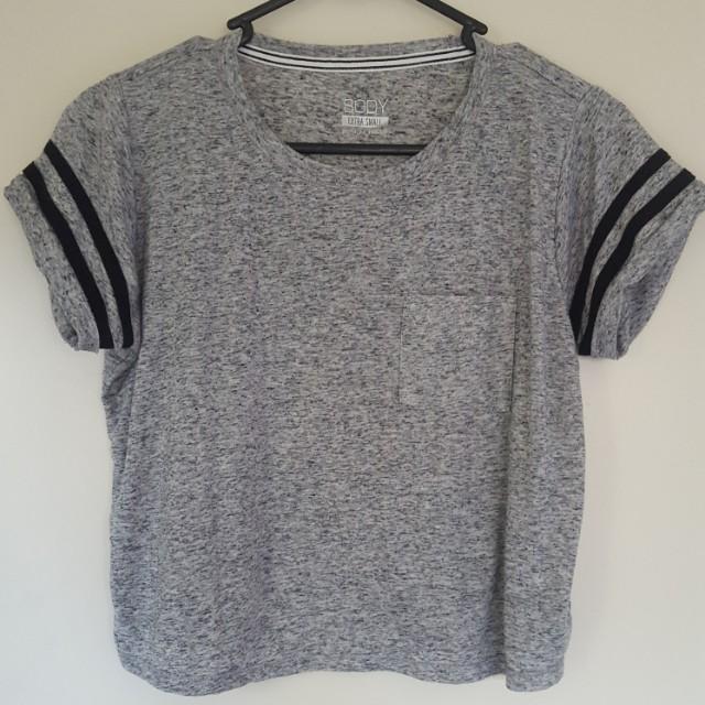 Grey Marle Crop Top