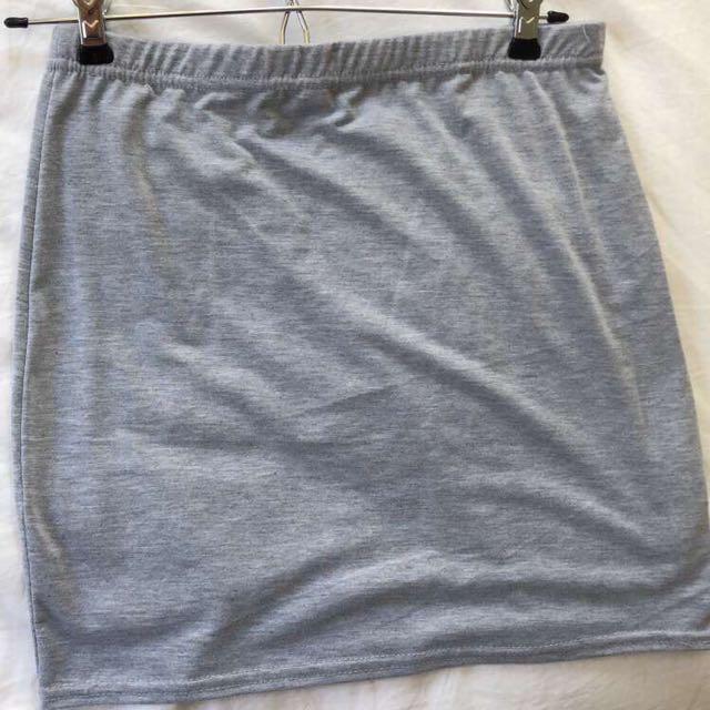 Grey slip skirt