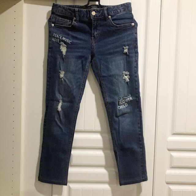 H connect顯瘦刷色牛仔褲(26)