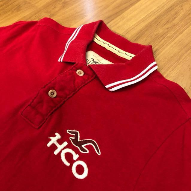 Hollister Red Polo Tee