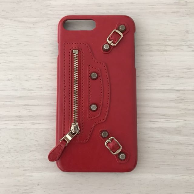 7df70f00f2 IPhone 7/8 Plus RED BALENCIAGA statement Hard Case on Carousell