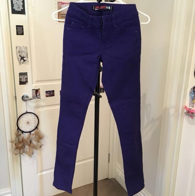 Jay jays purple jeans size 6