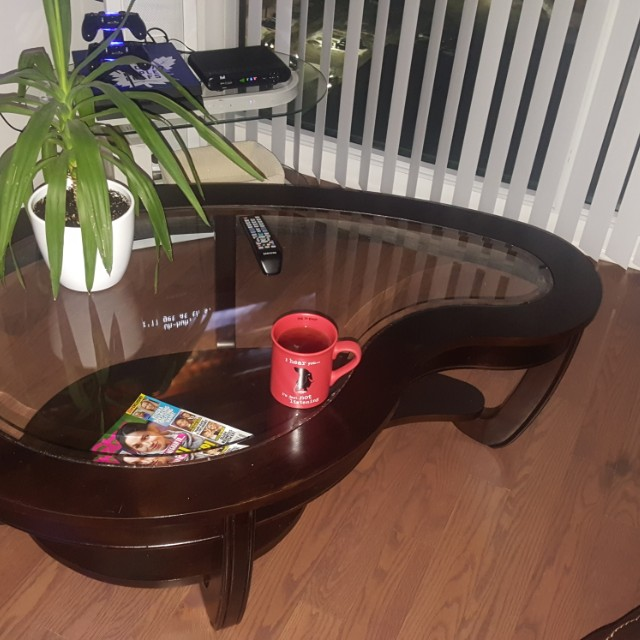 Kidney Shaped Coffee Table