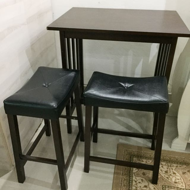 Kitchen Bar Wooden Table set for two