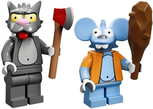 Mini Figures LEGO 71005 The Simpsons Minifigures Itchy /& Scratchy