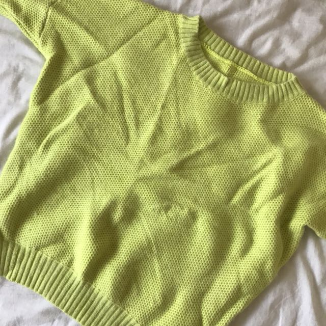Lime green jumper