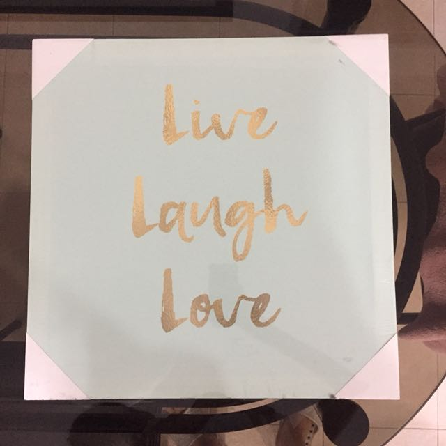 Live Laugh Love Wall frame, Home & Furniture on Carousell