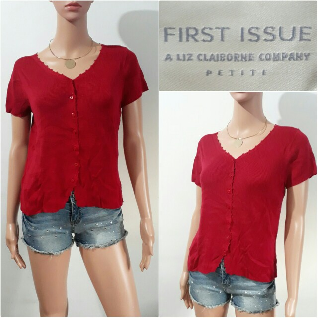 (M) First Issue red knitted top