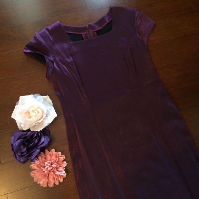 Metallic Purple Longdress
