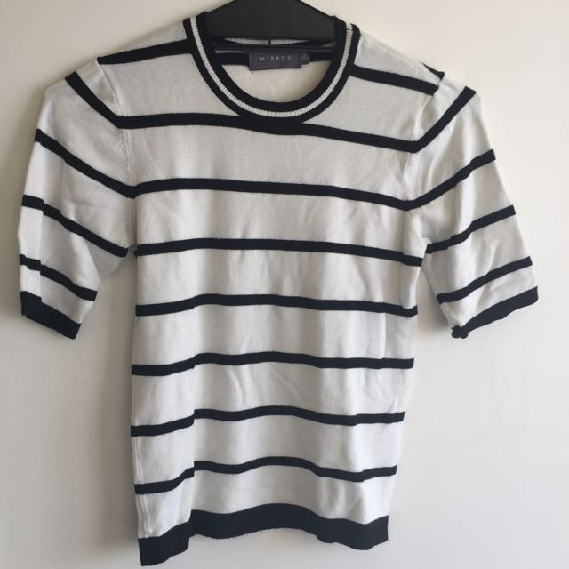 Mirrou B/W Striped Top