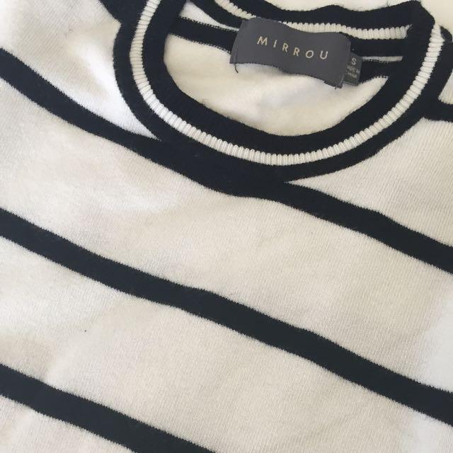 Mirrou B/W Striped Top