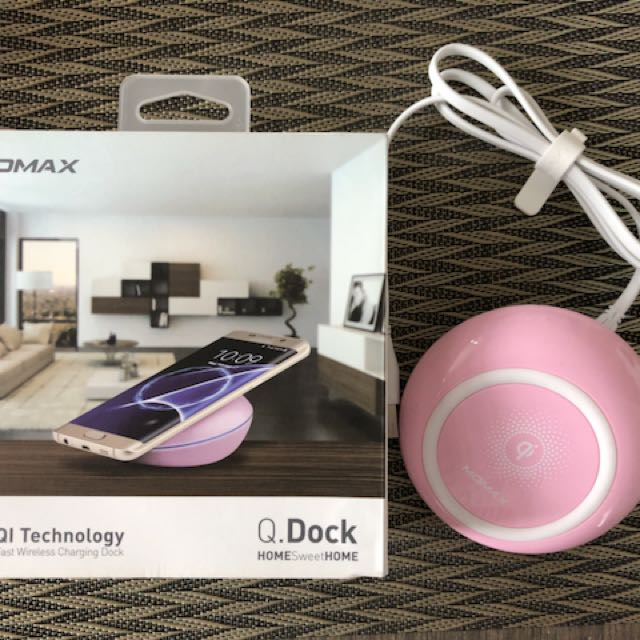 Momax Q. Dock Wireless Charger Color Pink