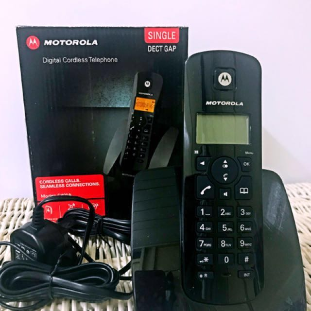 motorola digital cordless telephone c401a electronics others on rh my carousell com Motorola Cordless Phone Battery Replacement Motorola Cordless Phone Battery Replacement
