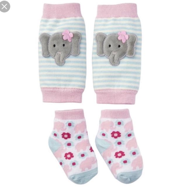 Mudpie homemade hearts knee pads and