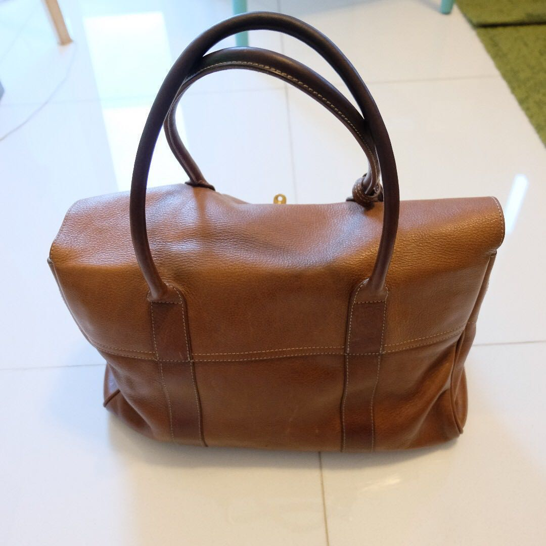 b484b94a32 Mulberry Heritage Bayswater Oak Natural Leather Bag (with dustbag ...