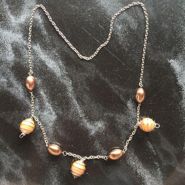 Necklace panjang pearl