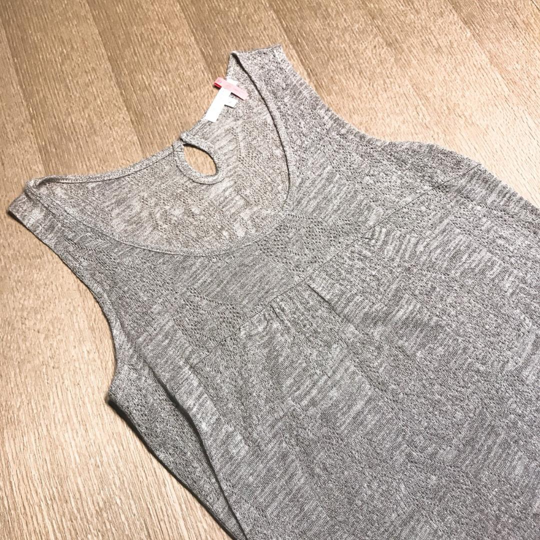 NET薄洋裝 灰色質感(無內裡) M號