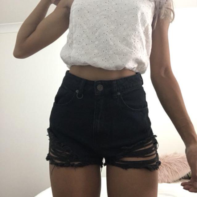 Neuw dark denim shorts